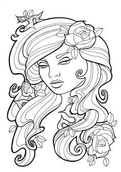 coloriage adulte tatouage - Coloring Pages Art