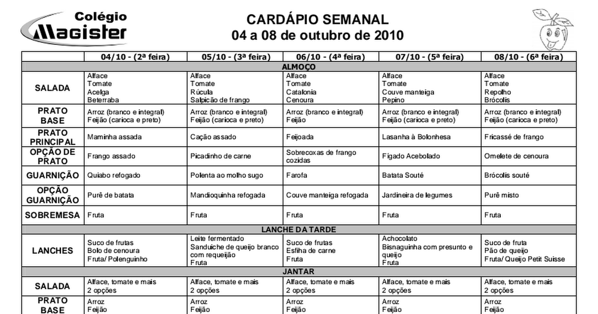 menu semanal para perder peso pdf