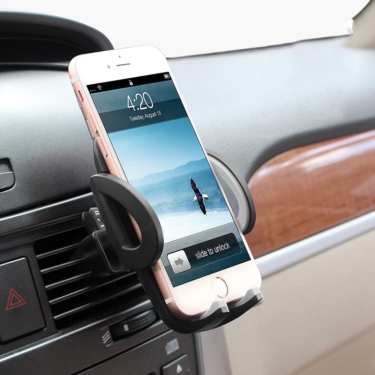 Magnetic Phone Car Mount for Cell Phone Holder for Car Universal Air Vent Car Phone Mount for iPhone X 8 Plus 7 Plus SE 6s Plus 5s 5 4s 4 Samsung Galaxy S9 S8 Note8 S7 Edge S6 Edge S5 S4 Google LG