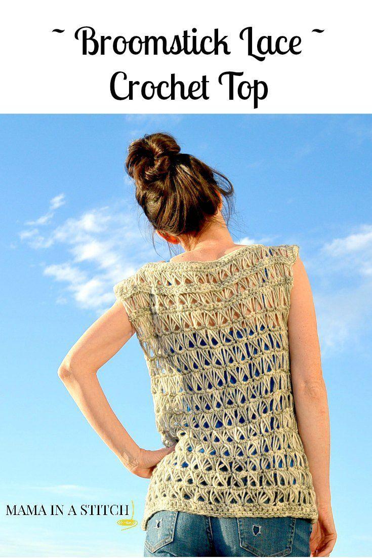 Broomstick Lace Crochet Top | Crochet / ropa | Pinterest | Blusas ...
