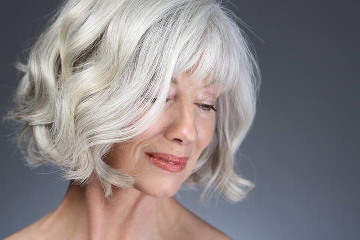 Grey Hair, Good Cut And Flattering Makeup