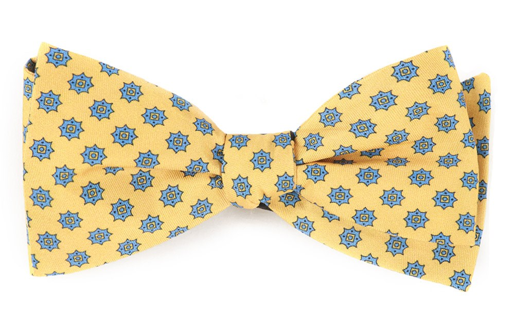 The Tie Bar Major Star Bow Ties Butter Self Tie Regular