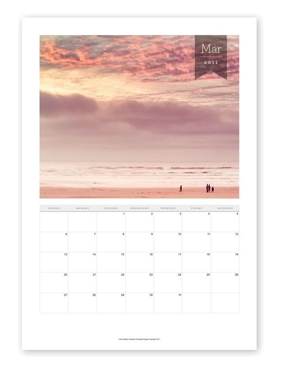 Indesign Photography Calendar Template Graphic Design - Stationary