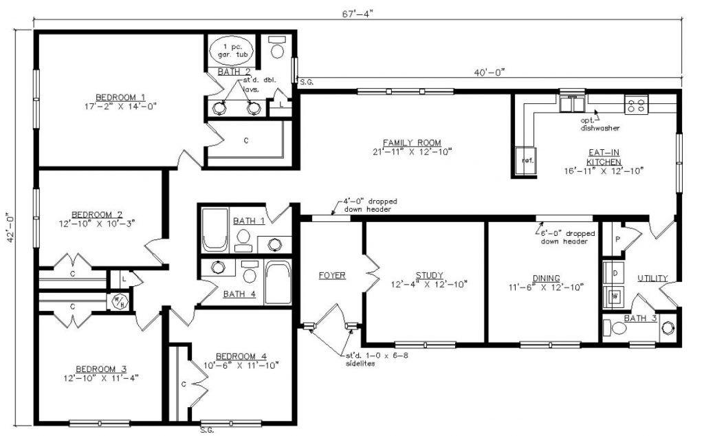 Charleston 3 modular home floor plans building systems