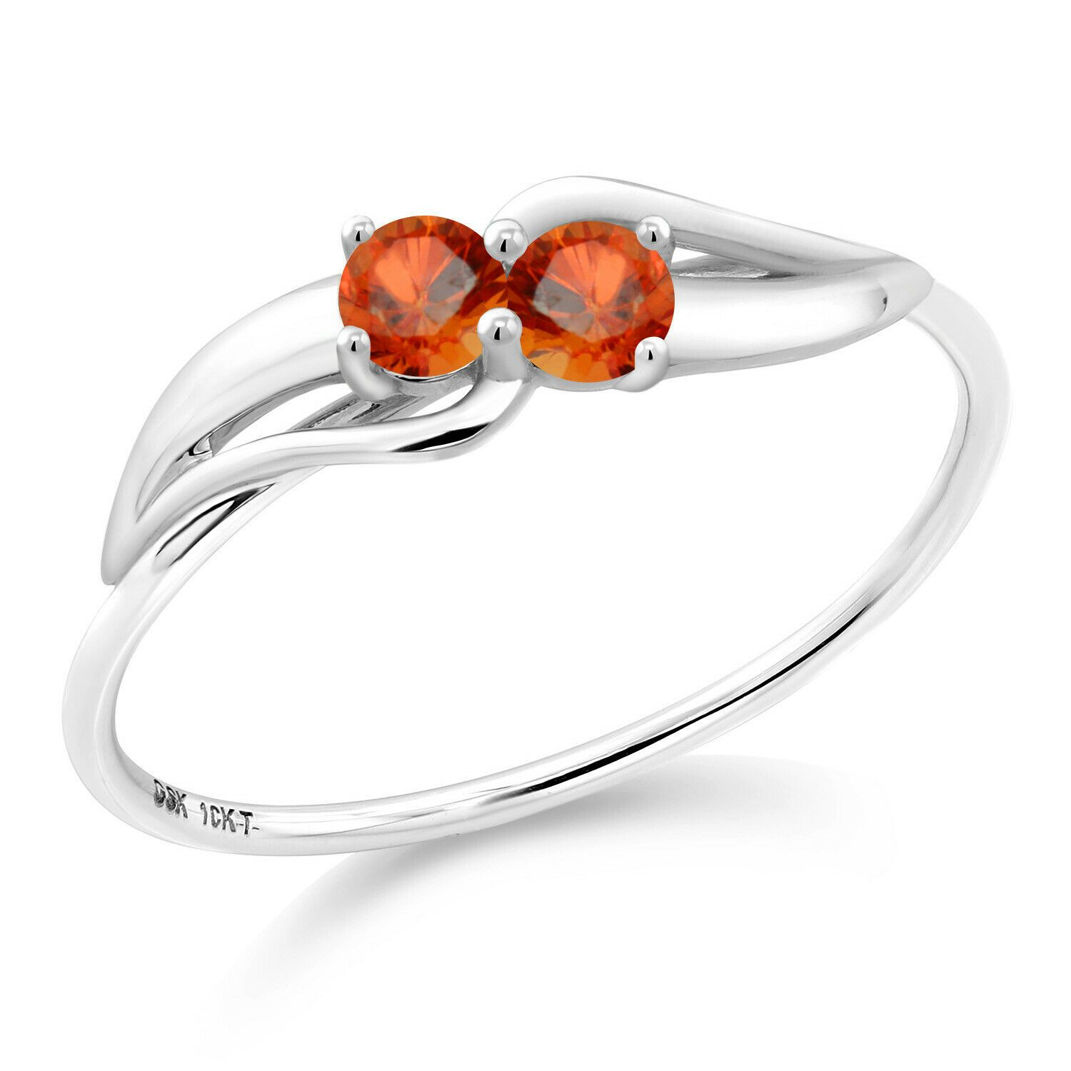 0 32 Ct Round Orange Sapphire 10k White Gold Ring 10k Gold Orange Ring Sapphire White Whitegold Https Gold Ring Price White Gold Rings Orange Sapphire