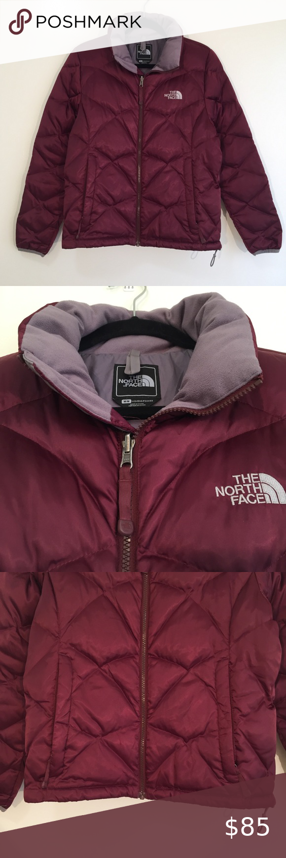 The North Face 550 Fill Down Quilted Puffer Jacket Quilted Puffer Jacket Jackets Burgundy Jacket [ 1740 x 580 Pixel ]