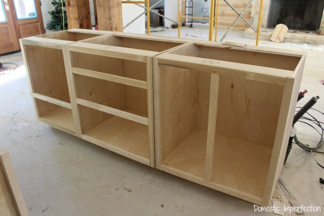 Cabinet Beginnings Domestic Imperfection Building A House Series - How to build kitchen cabinets from scratch