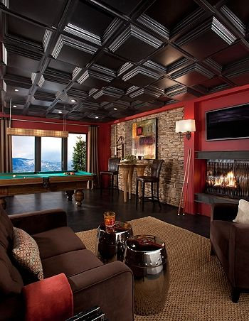 Man Cave - Love the Red. Black Armstrong's Easy Elegance ...