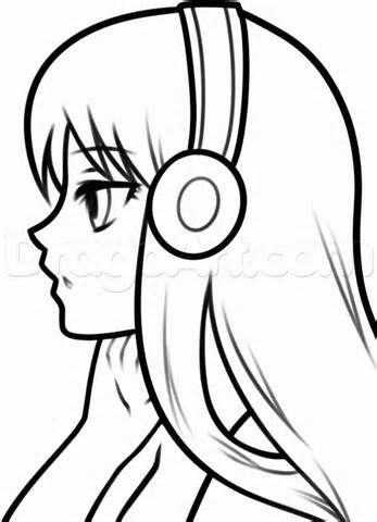 Basic Anime Body Coloring Coloring Pages Con Imagenes Dibujos