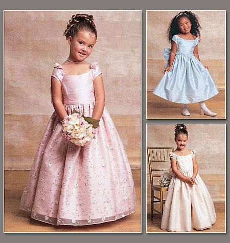 FANCY DRESS PATTERN / Vogue Flower Girl / First Communion Dress ...