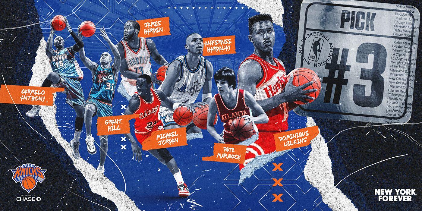 New York Knicks Former 3 Nba Draft Picks On Behance In 2020 New York Knicks Nba Draft Picks New Poster