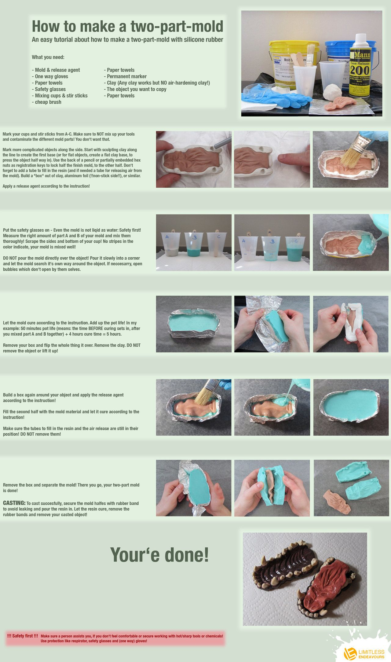 How To Make A Two Part Mold By Limitlessendeavours On Deviantart Resin Diy Diy Silicone Molds Diy Molding