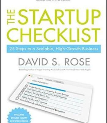 The Startup Checklist 25 Steps To A Scalable High-Growth Business - business startup checklist