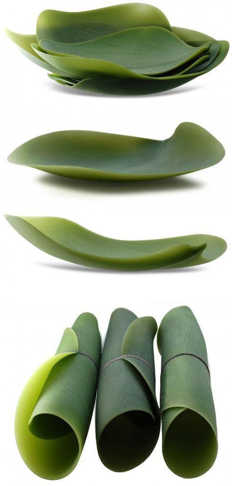 Silicone leaf plates: