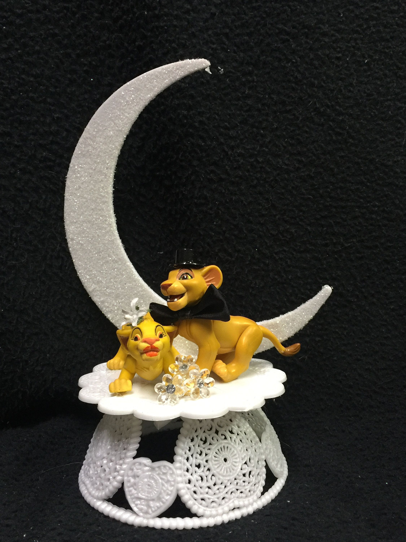 Palm Tree Heart Hawaiian Glass Wedding Cake Top Topper