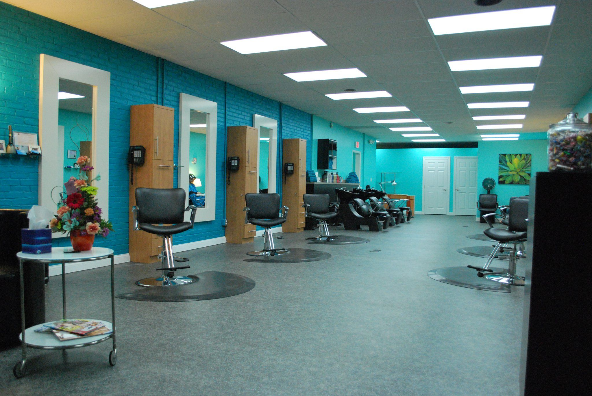 Love The Color Scheme Could Be Good For A Salon With Black Chairs