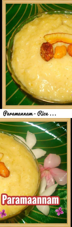 Paramannam - Rice Pudding-Rice Kheer-Payasam- Ksheerannam ...
