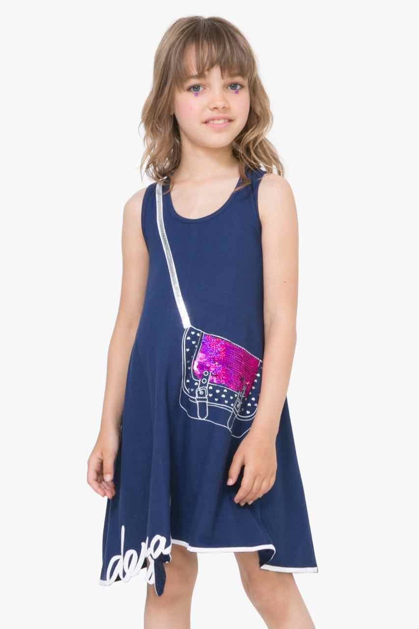 desigual girls dress madison 71v32j7 | navy sleeveless