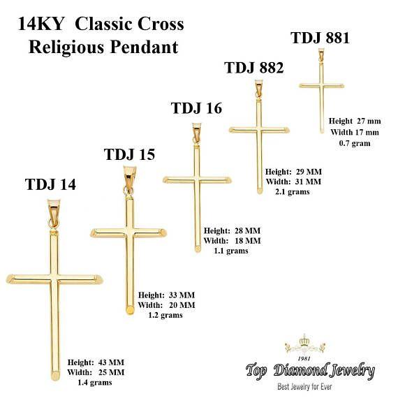14k Two Tone Gold Jesus Christ Cross Crucifix Pendant Men//Women 27*17 MM
