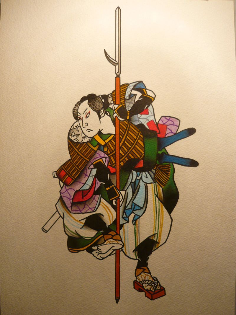 Japanese Samurai Warrior Art
