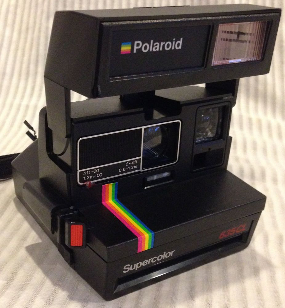Vintage Polaroid 635CL Supercolor Instant Film Camera UK