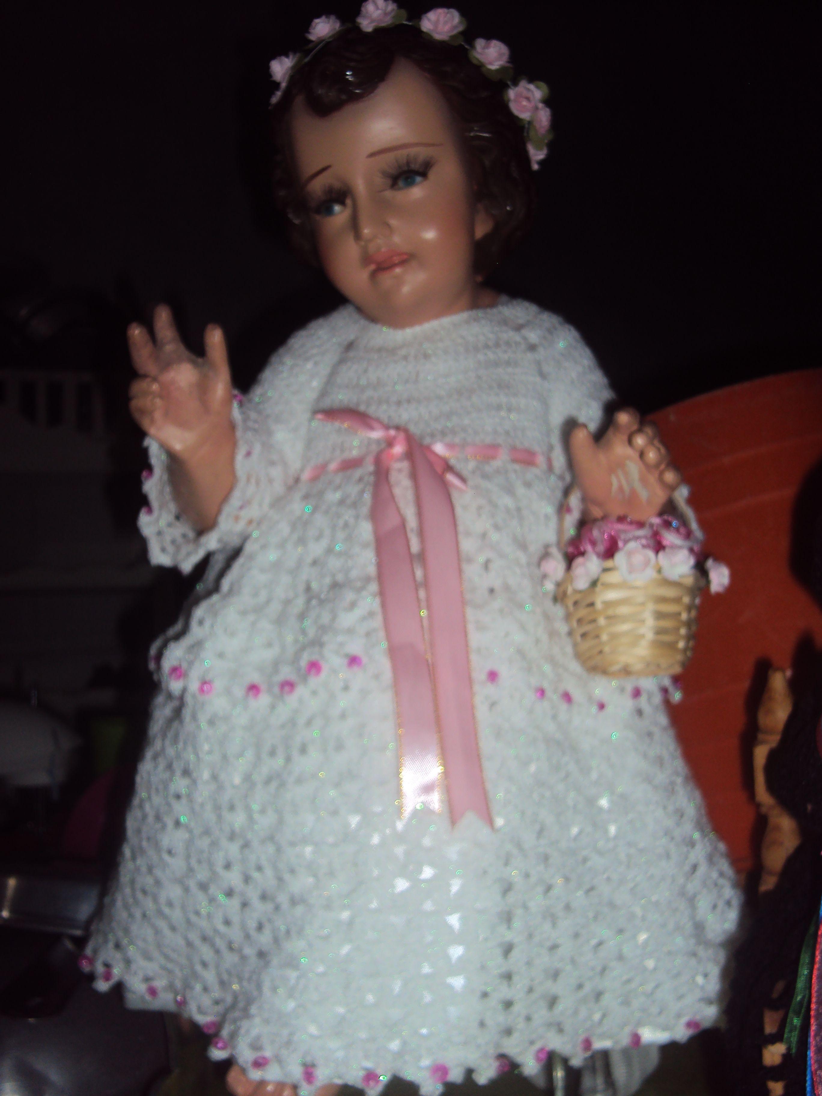 Vestido De Niño Dios De Las Rosas Tejido A Crochet Niño
