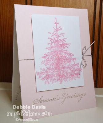 Debbie Davis Amped2Stamp  Soft Pink Christmas Amuse Studio