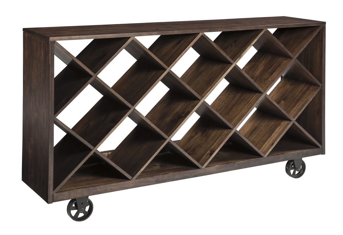 Starmore Contemporary Brown Solid Wood Metal Console Table