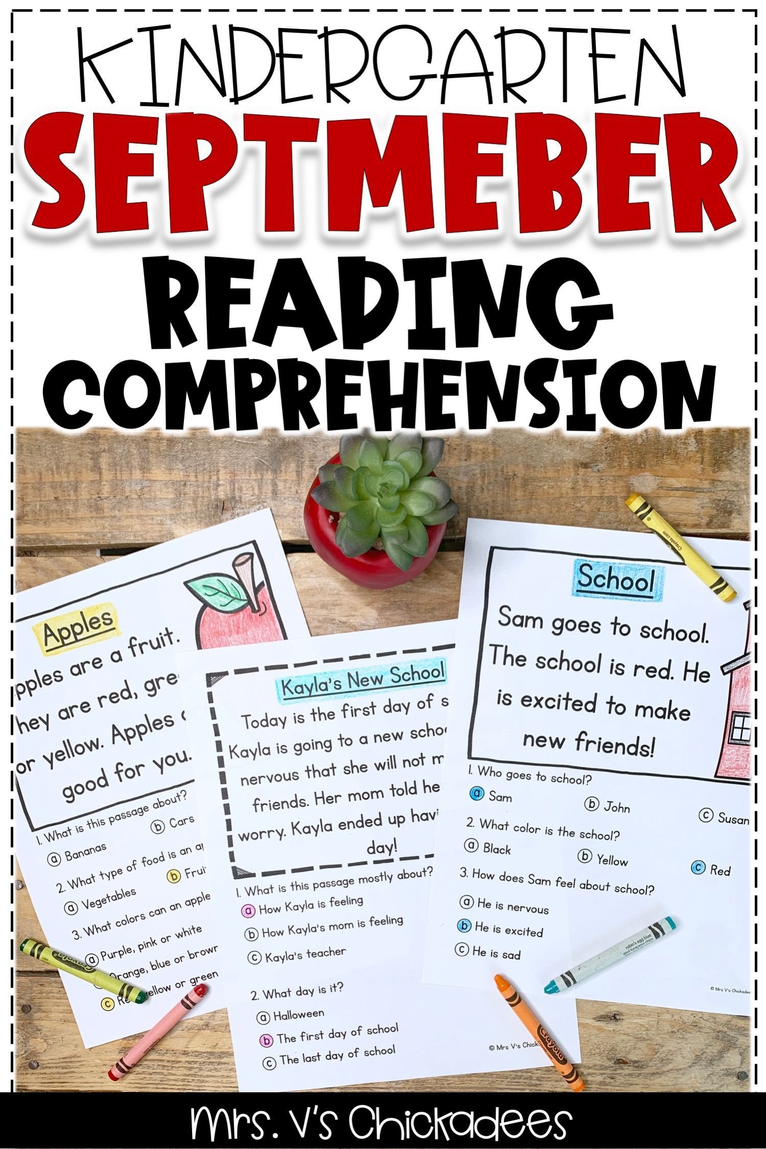 These Kindergarten Reading Comprehension Activities And
