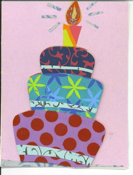 Birthday Cake Paper Collage