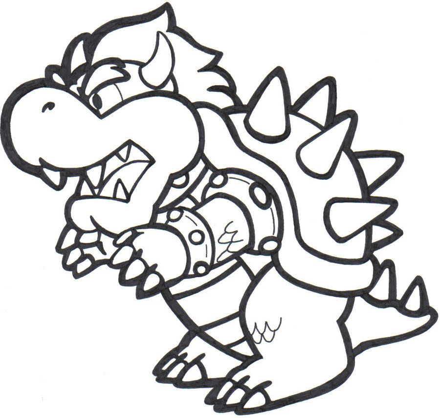 Bowser Jr Mario Coloring Pages Super Mario Coloring Pages