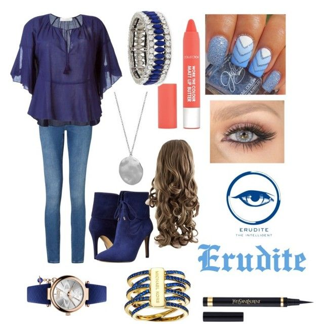 """Erudite Faction (divergent)"" by dangergirlf1 ❤ liked on Polyvore featuring Calvin Klein, See by Chloé, GUESS, Michael Kors, Vivienne Westwood, Karen Kane and Kenneth Jay Lane"