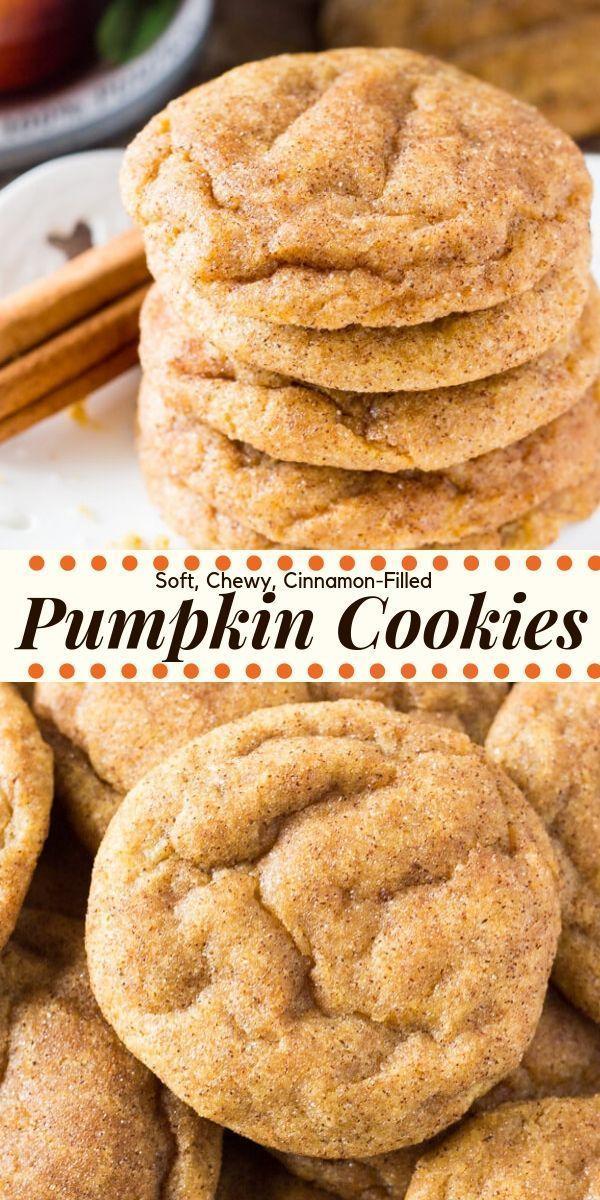 Pumpkin Spice Cookies #cinnamonsugarcookies
