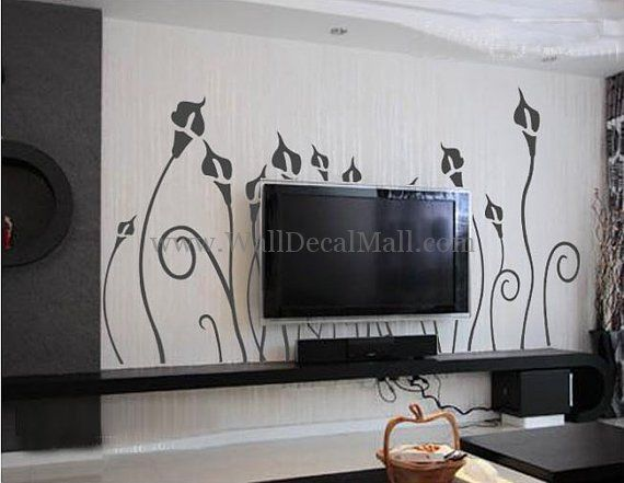 Beautiful Calla Lilies Wall Decals u2013 WallDecalMall.com & Beautiful Calla Lilies Wall Decals u2013 WallDecalMall.com | Flower Wall ...