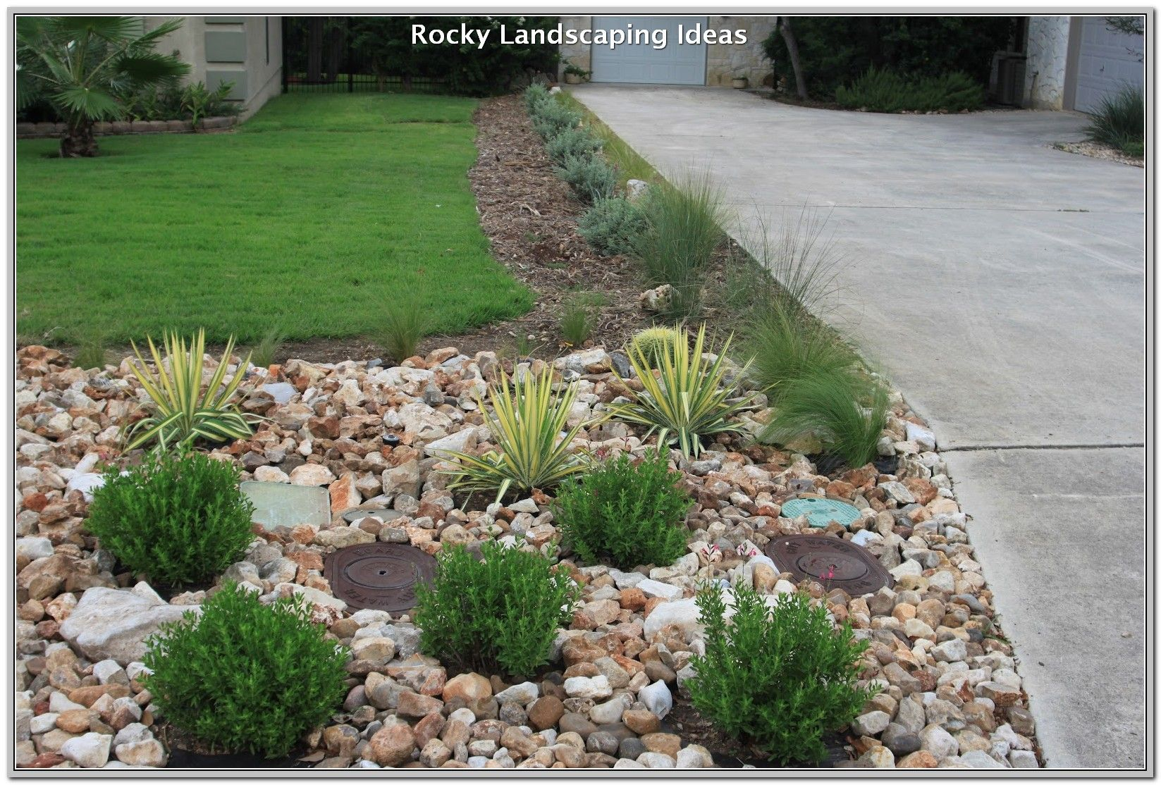 How To Keep Your Yard Looking Nice In The Winter Landscaping Lovers Front Lawn Landscaping Small Front Yard Landscaping Landscaping With Rocks