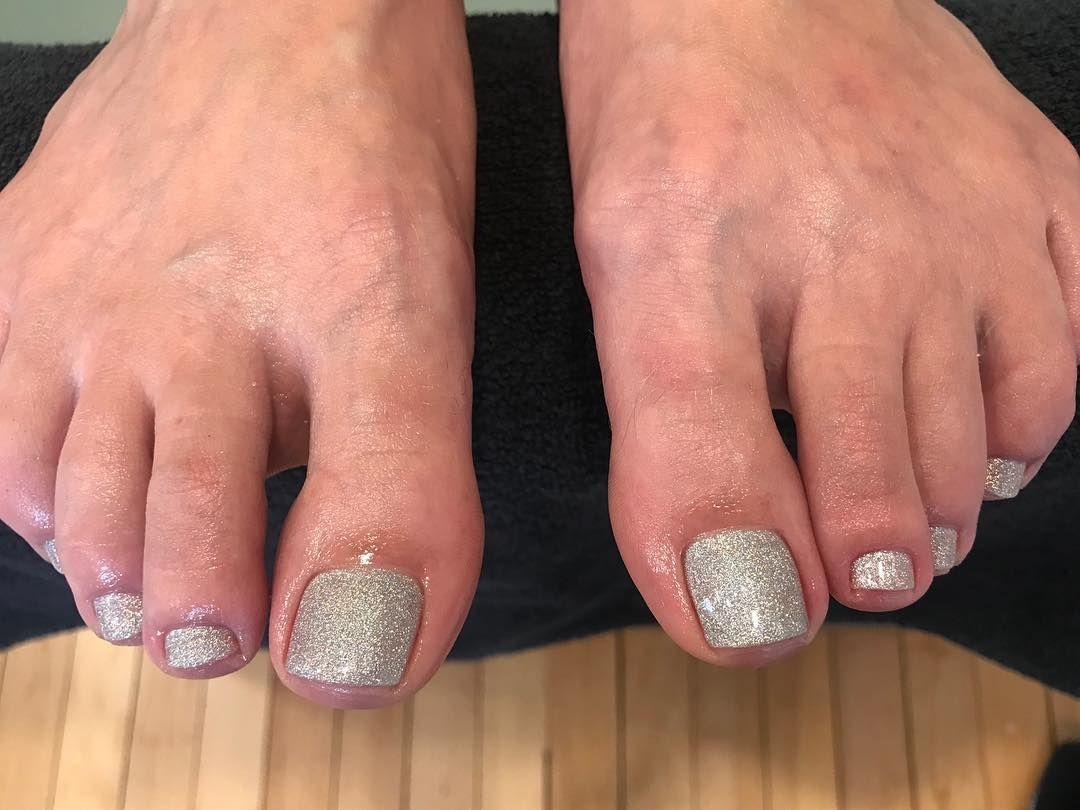 Silver Glitter Pedicure Glitter Pedicure Pedicure Silver Glitter