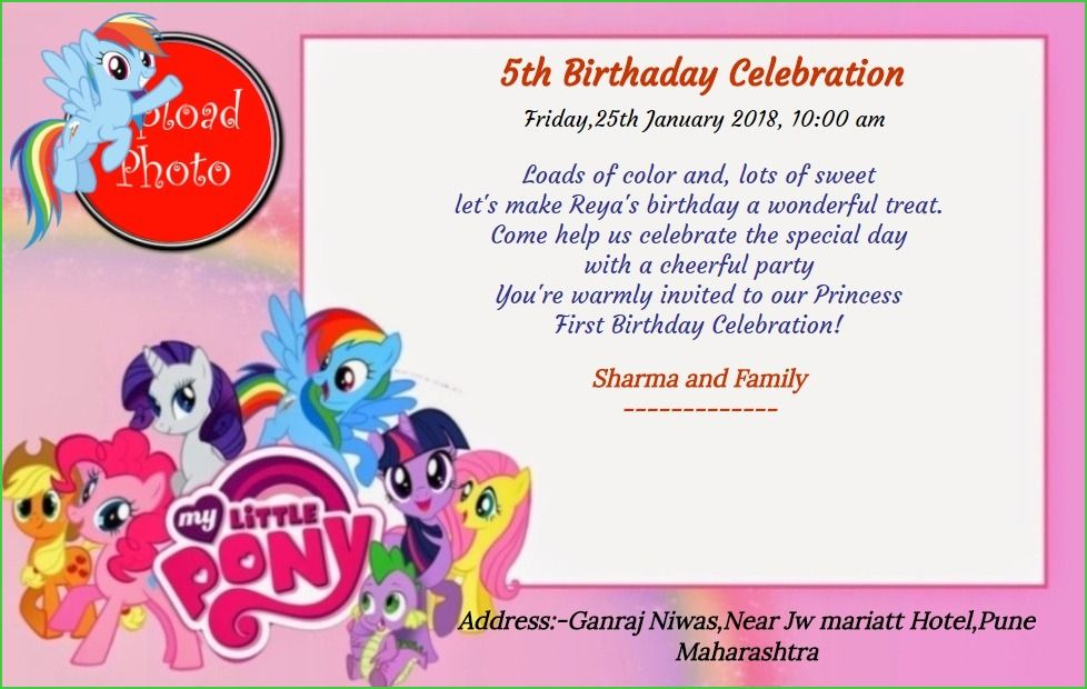 Free 5th Birthday Party Invitation Card Line Invitations