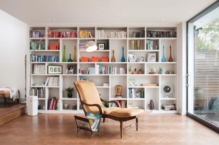 Example Of Asymmetrical Book Shelf Wall Design London Living