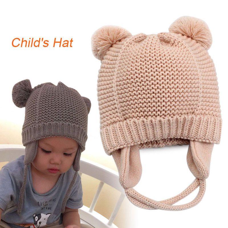 4b71b7dc6a4 Fashion Newborn Toddler Kids Baby Cotton Blend Knitted Hat Soft Warm Beanie  Cap  fashion