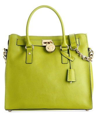 8014e8e6c2ea Fabulous lime green bag. MICHAEL Michael Kors Handbag, Hamilton Saffiano Leather  Tote - Handbags - Handbags & Accessories - Macy's