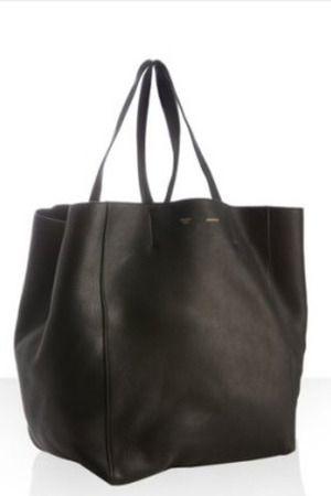 44cc080e424b Celine Leather Box Shopper Tote Profile Photo | Black | Leather box ...