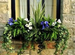 Fake Flowers In Window Boxes Artificial Plants Window Box