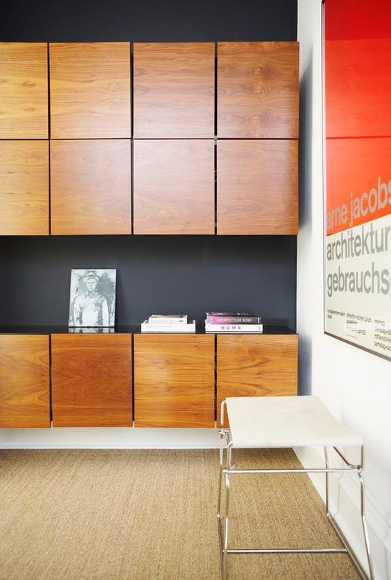 Black Wall Handleless Cabinetry Black Shadow Lines Townhouse