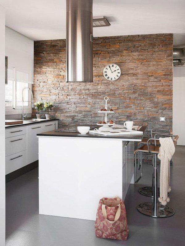Piedra en paredes Kitchen things, Kitchens and Lofts
