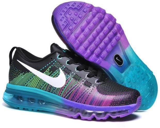 sale retailer a0ff5 d6c08 Flyknit Air Max 2014 Purple Blue Black White
