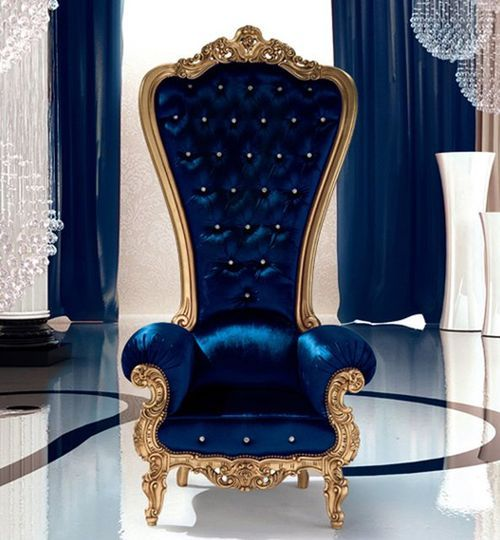 Pin By Amy Maroutsos On Vintage Victorian Gothic Colorful Interior Design Throne Chair Royal Blue And Gold
