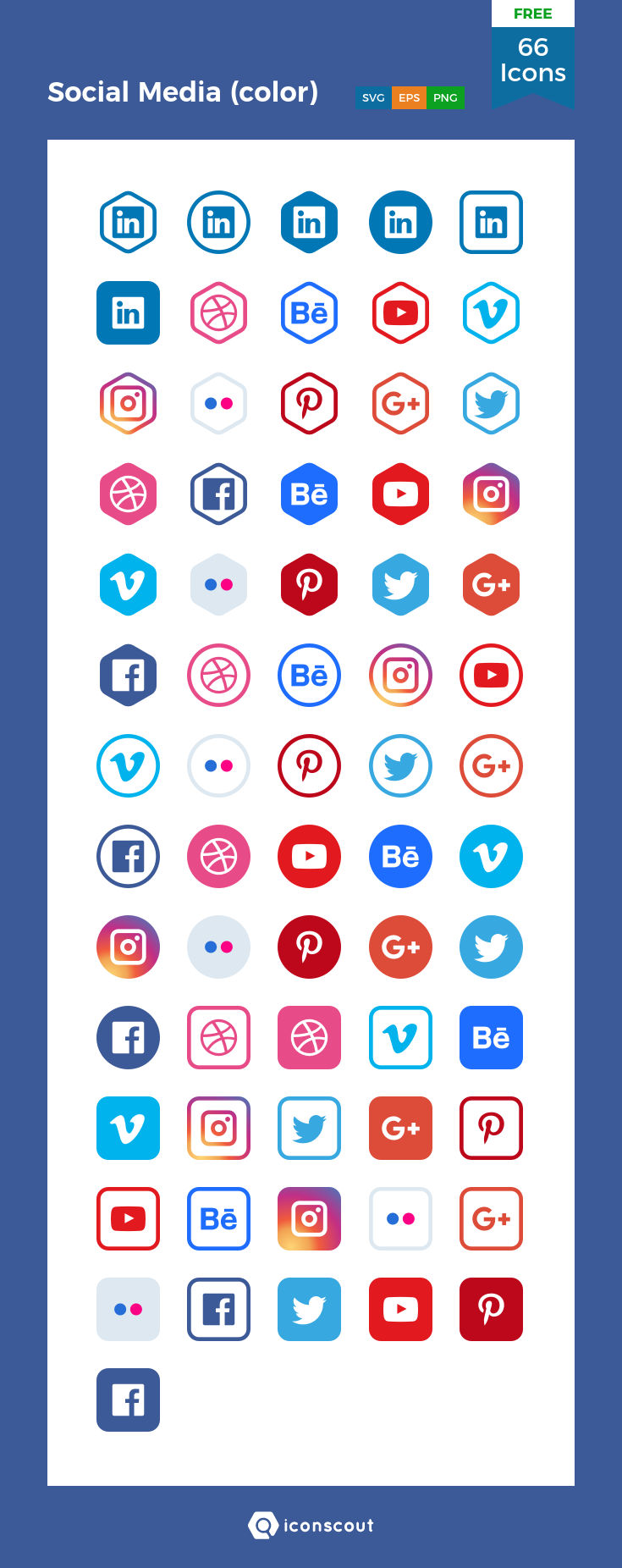 Download Social Media (color) Icon pack Available in SVG