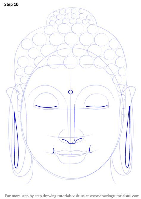 Step by Step How to Draw Buddha Face : DrawingTutorials101.com ...