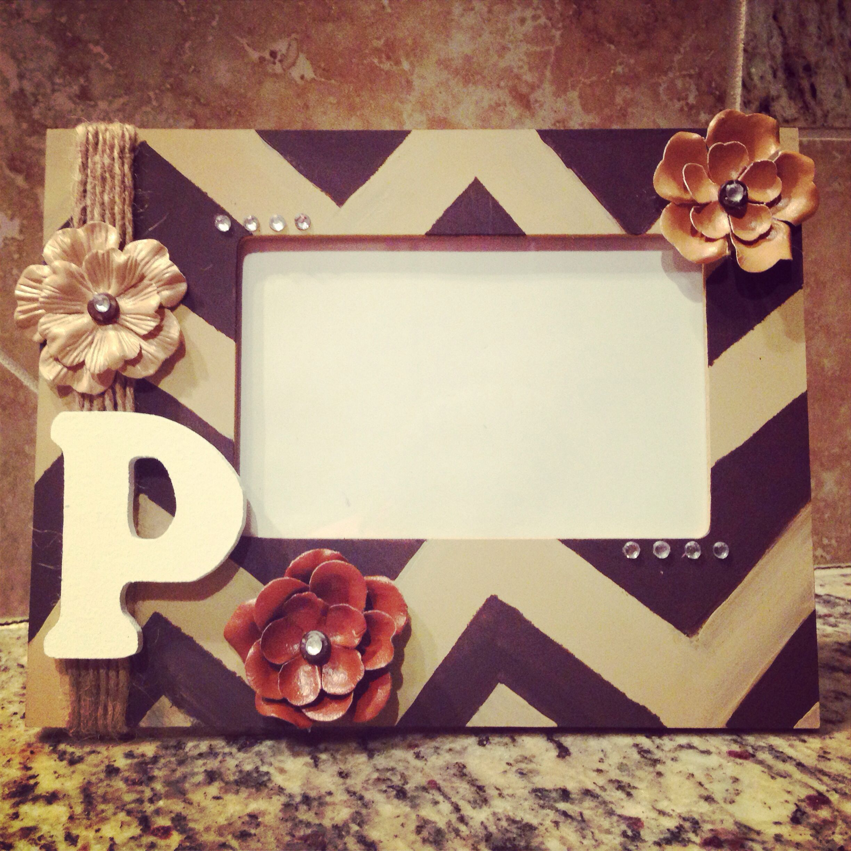 DIY picture frame I made. | Proyectos que intentar | Pinterest ...