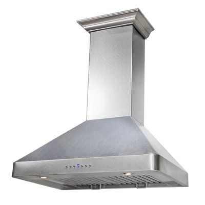 Zline Kitchen And Bath 36 Durasnow 400 Cfm Ducted Wall Mount Range Hood In Stainless Steel Wall Mount Range Hood Range Hood Kitchen And Bath